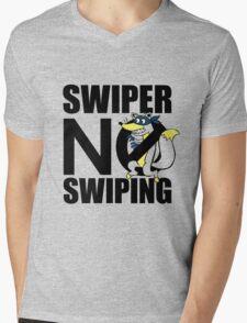 Swiper No Swiping Multi-Color Mens V-Neck T-Shirt