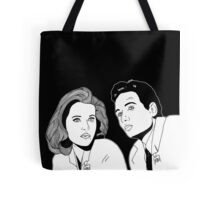 Scully and Mulder Tote Bag