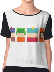 South Park Pixels Chiffon Top