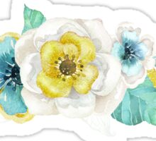 Watercolor flowers floral Sticker