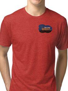 Anything Ghost Tree Logo - Blue Tri-blend T-Shirt