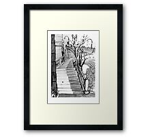 Stairs to Flinders Street Framed Print