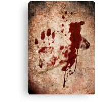 """""""Dexter"""" - Hand with Blood Canvas Print"""