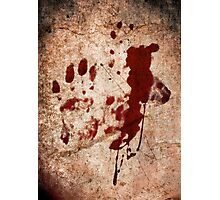 """""""Dexter"""" - Hand with Blood Photographic Print"""