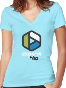 Expo '74 + 40 Women's Fitted V-Neck T-Shirt