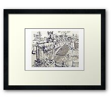 Princess Bridge Study, Melbourne Framed Print