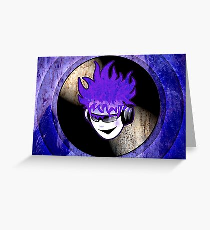 Punk Rock Vinyl Record -  MUSIC! Greeting Card