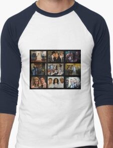 """Psych """"in Character"""" Collage Men's Baseball ¾ T-Shirt"""