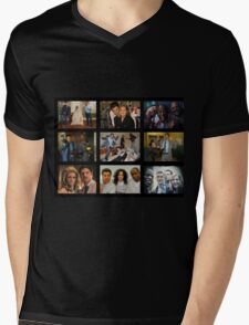 """Psych """"in Character"""" Collage Mens V-Neck T-Shirt"""