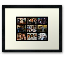 """Psych """"in Character"""" Collage Framed Print"""