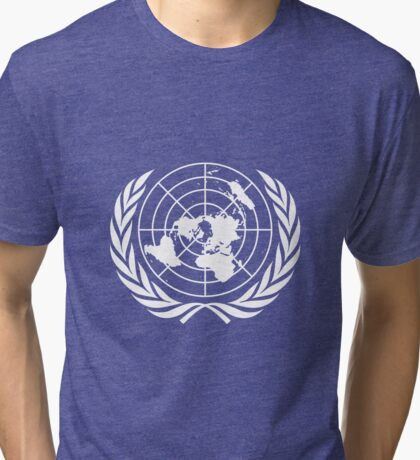 Flag of United Nations Tri-blend T-Shirt