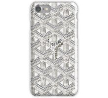 Goyard White Logo iPhone Case/Skin iPhone Case/Skin