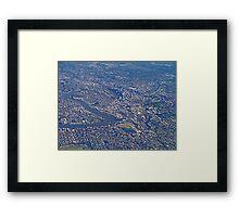 Aerial, Brisbane , Queensland, Australia Framed Print