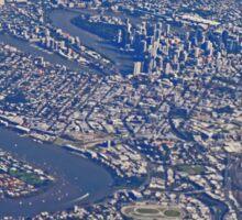 Aerial, Brisbane , Queensland, Australia Sticker