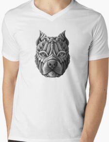 Ornate Pitbull Mens V-Neck T-Shirt