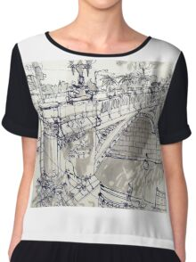 Princess Bridge Study, Melbourne Chiffon Top