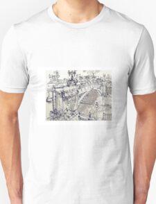 Princess Bridge Study, Melbourne Unisex T-Shirt