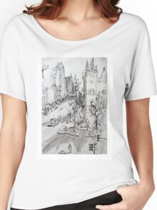 St Pauls Cathedral, Melbourne Women's Relaxed Fit T-Shirt
