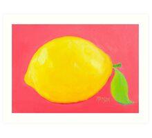 Lemon Painting Art Print