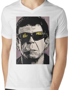 LOU REED Mens V-Neck T-Shirt
