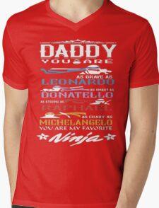 Daddy Ninja Mens V-Neck T-Shirt