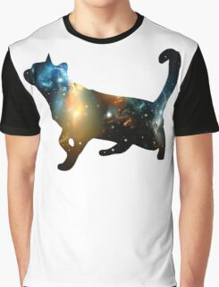 CELESTIAL CAT Graphic T-Shirt