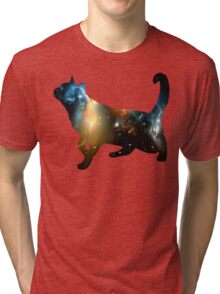 CELESTIAL CAT Tri-blend T-Shirt