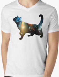 CELESTIAL CAT Mens V-Neck T-Shirt