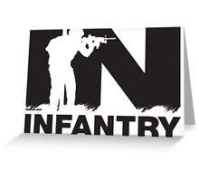 Army Infantry Greeting Card