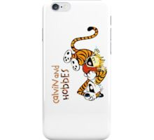 Calvin and hobbes laugh moment iPhone Case/Skin