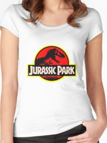 Vintage Style Jurassic Women's Fitted Scoop T-Shirt