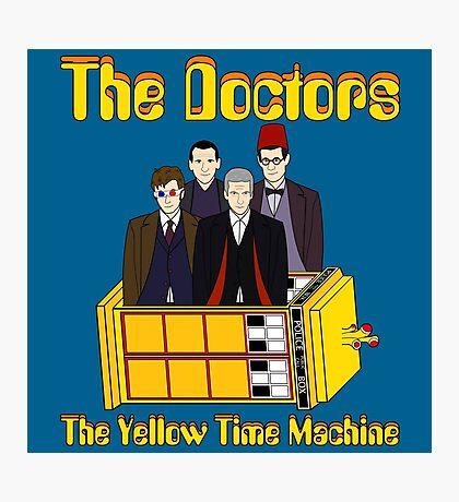 The Yellow Time Machine (Plain Background) Photographic Print