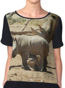 Mum and baby rhino Chiffon Top