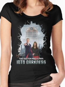The Doctor and Clara: Into Darkness Women's Fitted Scoop T-Shirt