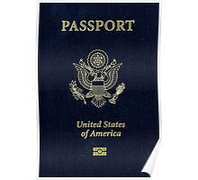 Make America Great Again USA Passport Poster