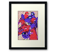 Wrens and Rosellas Delight! Framed Print