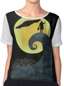 The Doctor's Nightmare Before Christmas Chiffon Top