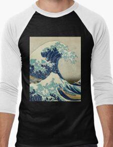 Great Wave off Kanagawa Men's Baseball ¾ T-Shirt