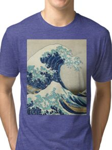 Great Wave off Kanagawa Tri-blend T-Shirt