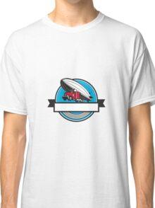Half Zeppelin Blimp Half Semi-Truck Flying Overhead Retro Classic T-Shirt