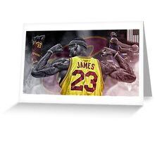 Lebron James Greeting Card