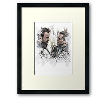 Aaron Paul and Hugh Dancy Framed Print