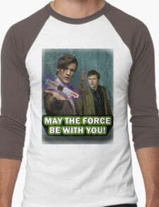 Use the Force, Doctor Jedi (Realistic) Men's Baseball ¾ T-Shirt