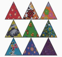 Vintage Fabric Patchwork in Bright Colours Kids Tee