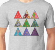 Vintage Fabric Patchwork in Bright Colours Unisex T-Shirt