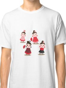 Flamenco dancers on black Classic T-Shirt