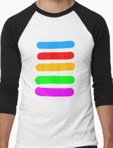 Graffiti Colours Men's Baseball ¾ T-Shirt