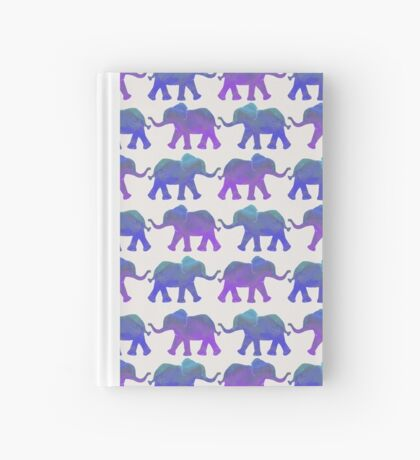 Follow The Leader - Painted Elephants in Purple, Royal Blue, & Mint Hardcover Journal