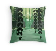 Misty Marsh Throw Pillow