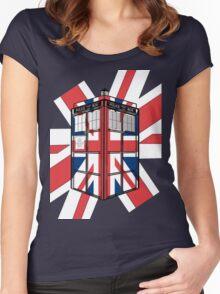 Type UK TARDIS Women's Fitted Scoop T-Shirt